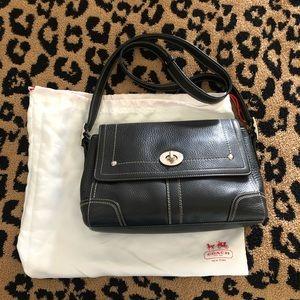 Coach crossbody bag black leather